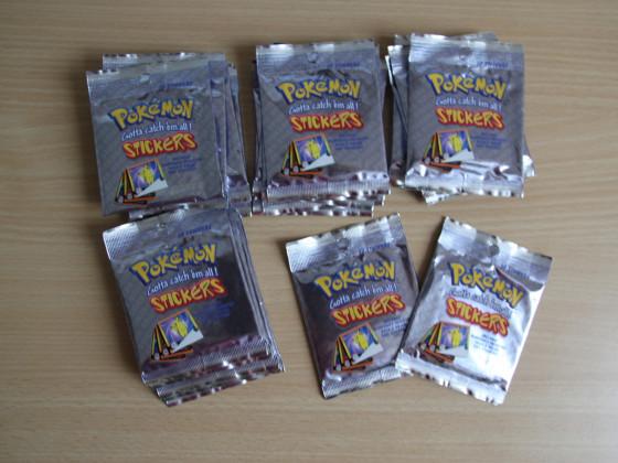 Pokemon Sticker Tüten 22 Stück (20 OVP)