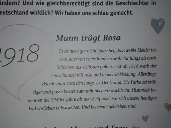 Rosa für den Mann