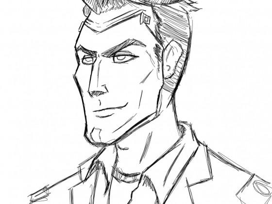 Handsome jack Scribble