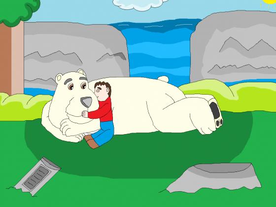 Lieber, knuddeliger Eisbär Rukan