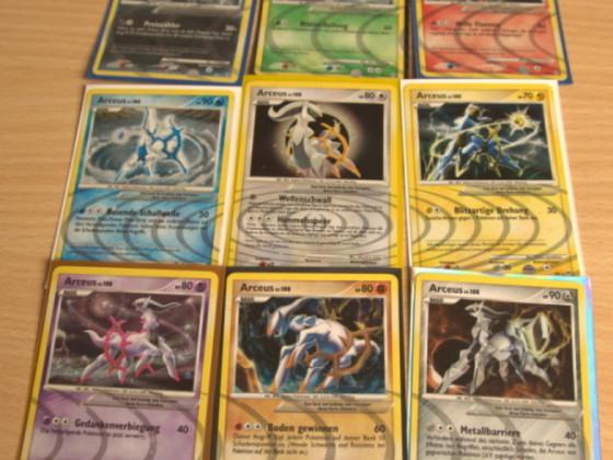 Und meine jetzt 6 vollständige PT Arceus Sammlung