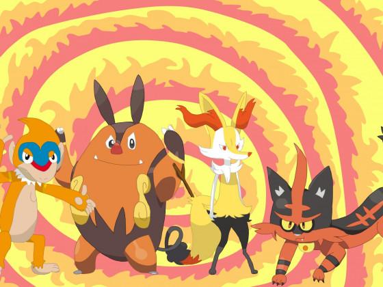 Pokémon Feuerstarter Mittel-Entwicklungen, Teil 2