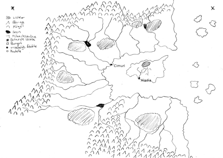 Karte einer Fantasiewelt, eure Hilfe ist gefragt!