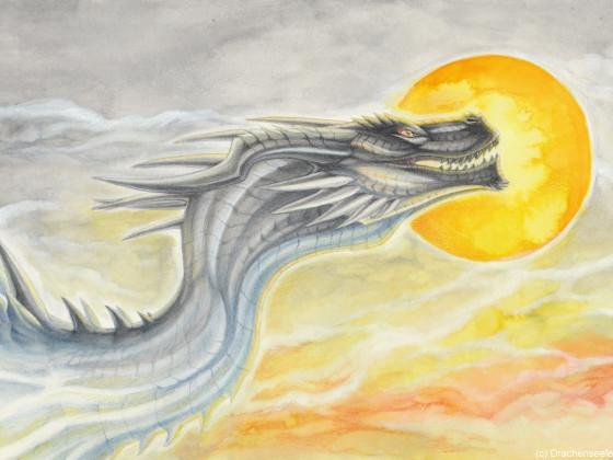 Dragon with sun