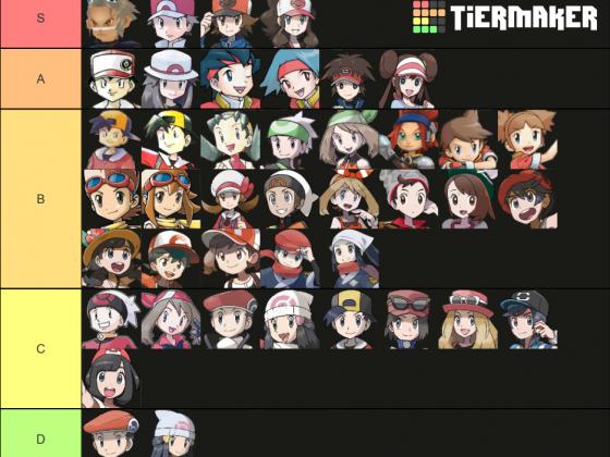Pokemon Protagonisten Tier List