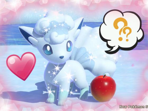 New Pokémon Snap - Portrait mit Apfel xD