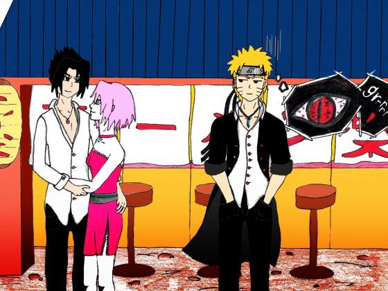 Naruto und SasukeXSakura
