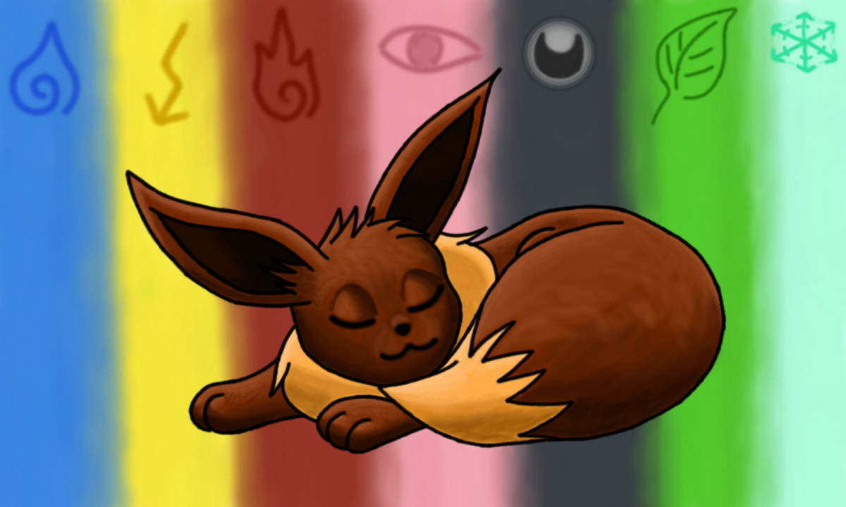 Sleeping Eevee