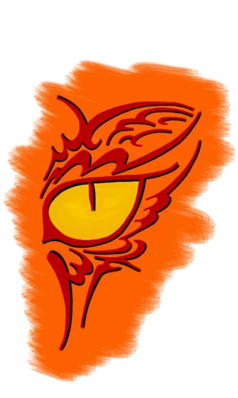 Cat Eye Orange BG