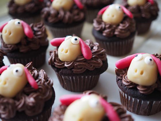 Schoko-Lamm-Cupcakes
