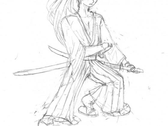 Kenshin Skizze