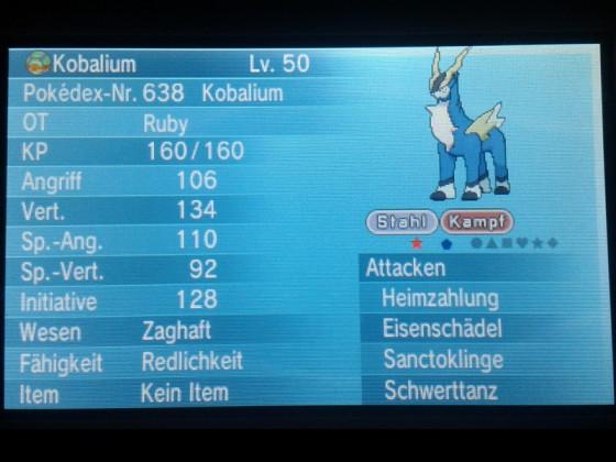Shiny Kobalium ♥