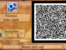QR-Code Pokemon Alpha Saphir