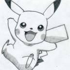 Pikachu Drawing by Karuzo