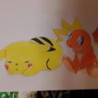 Pikachu und Glumanda
