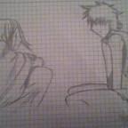 Mein versuch 2 Charas aus Attack on Titan zu zeichnen xD
