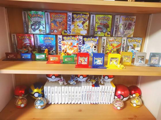 Ein Teil meiner Pokémon-Games Sammlung :)