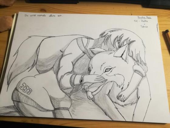 Psycho Pass   OC Kazumi Reika mit ihrem Hund Toboe