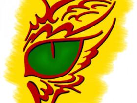 Cat Eye Yellow BG