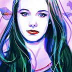 Digitales Aquarell-Portrait