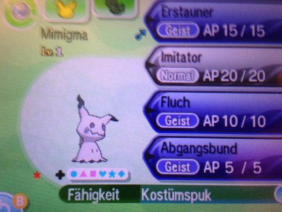 Shiny Mimikyu nach 53 Eiern ^_^