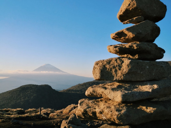Steine + Fuji-San