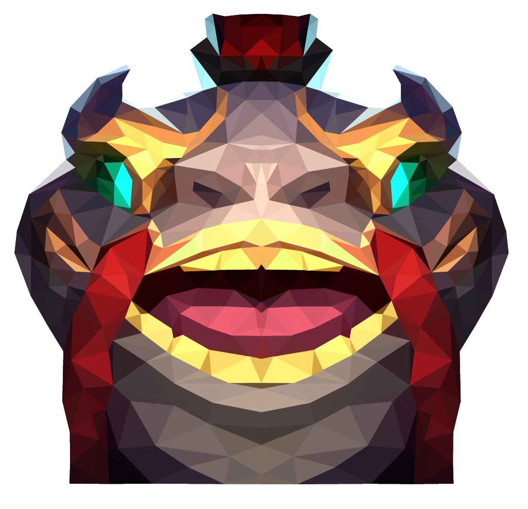 Low Poly Coin Emperor Tahm Kench