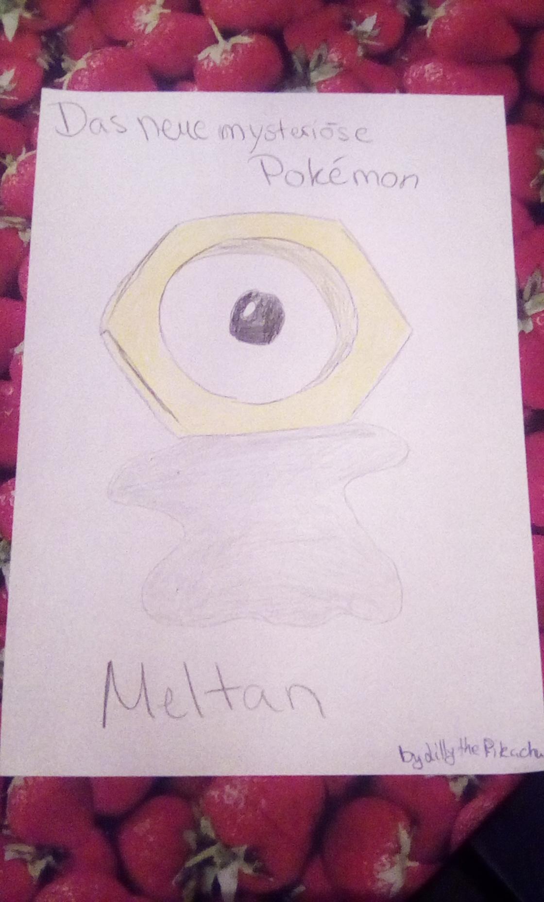 Meine Zeichnung zu Meltan