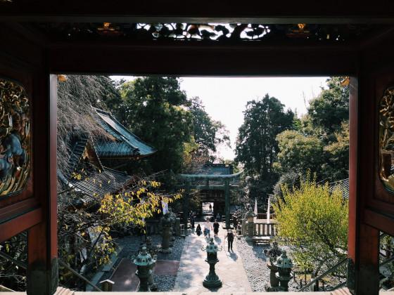 Schöner Schrein in Shizuoka
