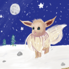 Evoli im Schnee