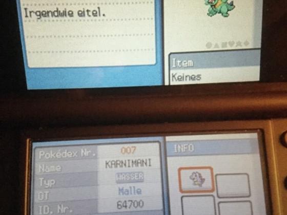 Shiny Karnimani in Pokémon SoulSilver