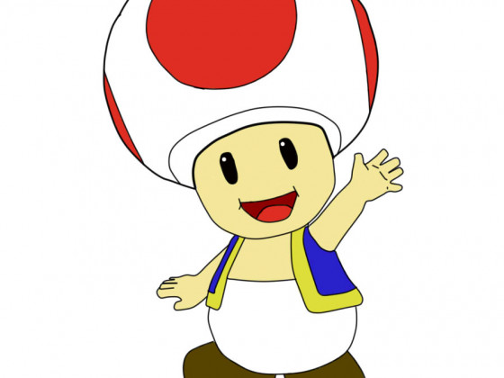 Toad Line art Color