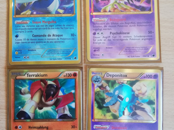 4 Shiny Secret Rare aus den BW Sets <3