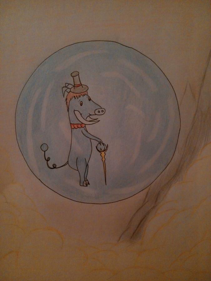 """Fanart zu """"Herr Pigerion in seiner Blase"""""""