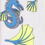 Metall Drachen Schlange