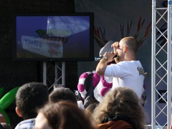 Olli P. mit dem Cosplay Gewinner Reshi :S