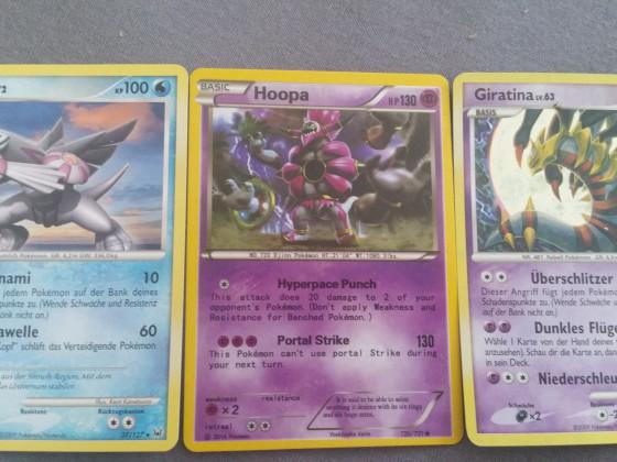 Legendäre Pokemon Palkia , Hoopa und Giratina