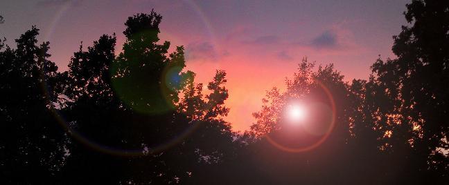 Ein kleiner Sonnenuntergang gestern