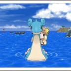 Mit Lapras auf dem Meer