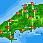 Routen und Städte