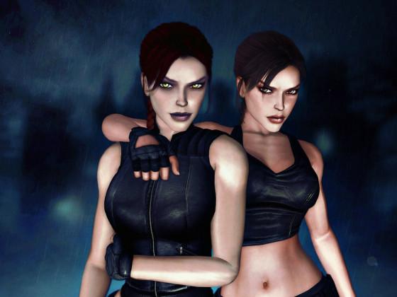 Lara und Shadow