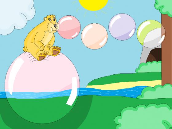 Sommerliche Kaugummiblasen machen