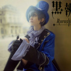 Ciel Phantomhive blue costum