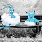 """Altaria & Altariachu (hab ich mal für den """"blaue Pokémon FC"""" zusammengeschnipselt *laaange her*)"""