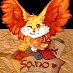 Sano the delphox [re-draw]