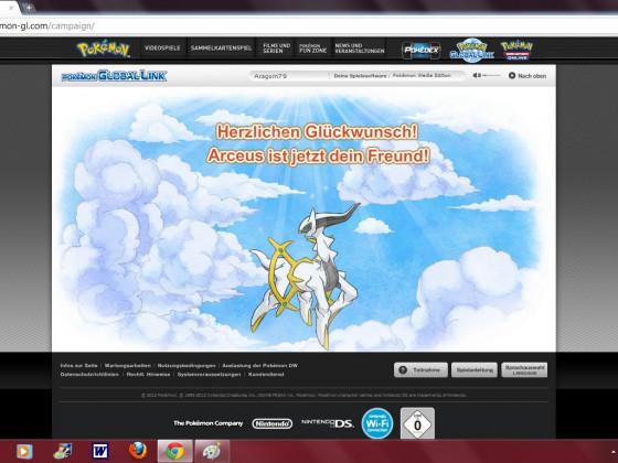 Erhalte das mysteriöse Pokemon Arceus