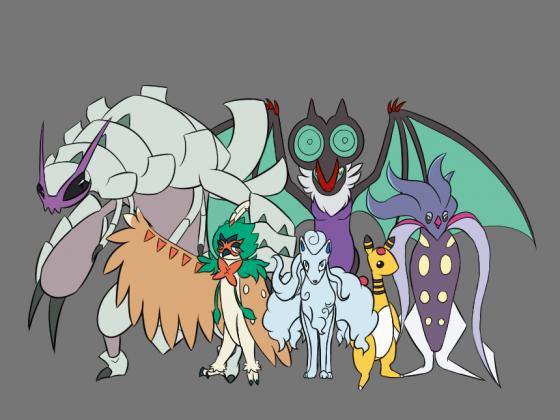 Mein Pokemon Ultra Sonne Team