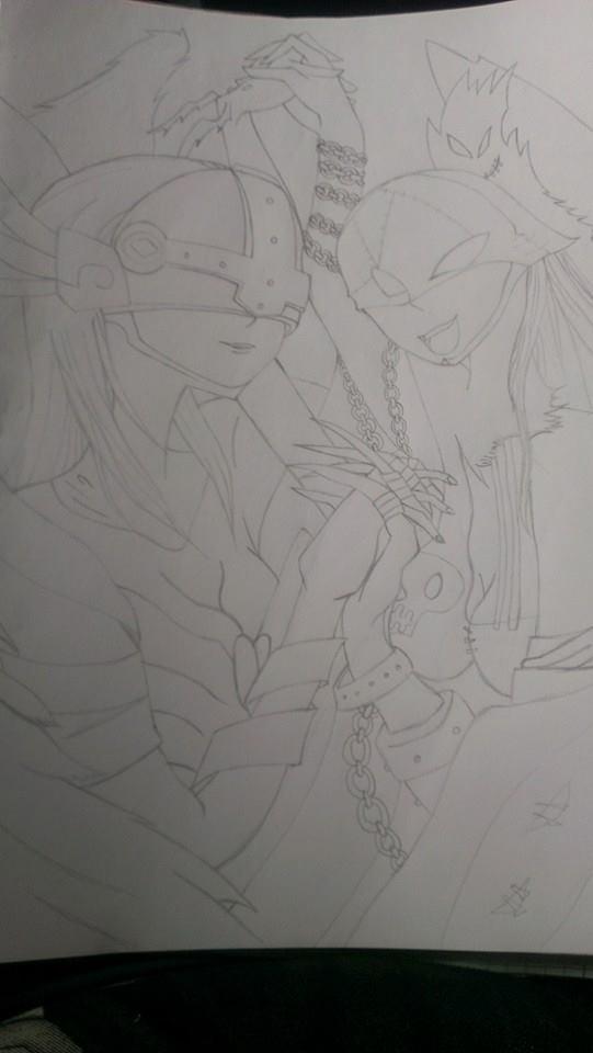 Angewomon und Lady Devimon