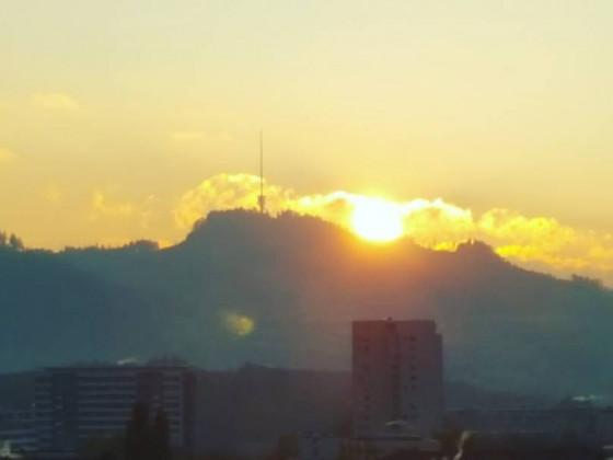 Sonnenaufgang in Bern