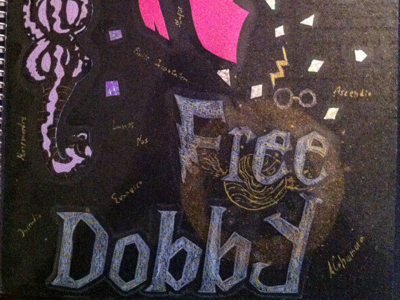 Free Dobby Collegblock Cover